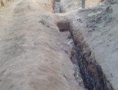 صور..شكوى من عدم ردم حفرة بعد إصلاح ماسورة مياه مكسورة فى قريه المحارزة