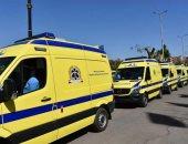 مصرع 6 أشخاص وإصابة 9 آخرين فى تصادم ميكروباص مع ربع نقل بالمنيا