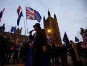 """صور.. وقفة احتجاجية بمحيط البرلمان البريطانى ضد الـ""""بريكست"""""""