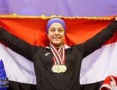 بطلة رفع الأثقال سارة سمير تحتفل بعيد ميلادها الـ21 اليوم
