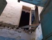 صور.. مصرع شخصين فى انهيار جزئى لعقار من أربع طوابق بالإسكندرية