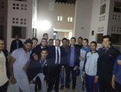 رئيس جامعة بنى سويف يفاجئ المدن الجامعية ليلا