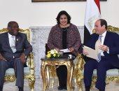 السيسي يتسلم دعوة من الرئيس الإيفوارى لزيارة كوت ديفوار