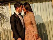 شاهد.. أول ظهور لـ بريانكا شوبرا بعد زواجها فى حفل زفاف ابنة أمبانى