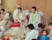 شاهد.. اللحظات الأولى من حفل زفاف إيشا أمبانى ابنة الملياردير الهندى