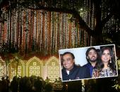 دعوات مطلية بالذهب.. تفاصيل حفل زفاف ابنه أغنى رجل فى الهند.. صور