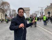 خالد أبو بكر يجرى تحقيقًا خاصًا من فرنسا عن تظاهرات السترات الصفراء