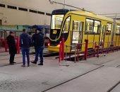 أول صور لترام الإسكندرية الجديد الوارد من أوكرانيا