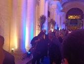 وصول وزيرة الثقافة لافتتاح مهرجان الأغنية بالإسكندرية