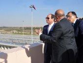 صور.. السيسى يشهد افتتاح محطة مياه مدينة الطور بطاقة 30 ألف لتر مكعب يوميا
