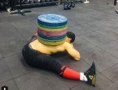 مرونة كبيرة.. شاهد كيف يتدرب الرباع المصرى محمد إيهاب تمرينات شاقة داخل الجيم