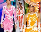 """الشخبطة بالألوان الفلوماستر تسيطر على أزياء """"موسكينو"""" لخريف 2019"""