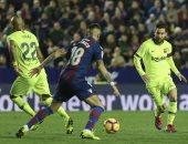 ليفانتى ضد برشلونة.. البارسا يتقدم بثنائية سواريز وميسي فى الشوط الأول