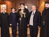 البابا تواضروس يلتقى أمين عام مجلس كنائس الشرق الأوسط بالمقر الباباوى
