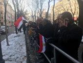 فيديو ..الجالية المصرية بالنمسا تستعد لتوديع الرئيس السيسى قبل المغادرة