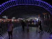 صورة اليوم.. بالسياح والأنوار شرم الشيخ تتزين للكريسماس
