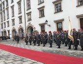 الرئيس السيسي يصل قصر الرئاسة فى النمسا