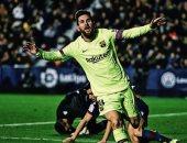 ليفانتى ضد برشلونة.. 7 أرقام قياسية من هاتريك ميسي.. فيديو