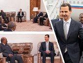 لأول مرة منذ 2011.. الرئيس السودانى يزور سوريا.. البشير يلتقى الأسد فى زيارة عمل.. ويؤكد: سوريا هى دولة مواجهة وإضعافها هو إضعاف للقضايا العربية.. والقيادتان يؤكدان ضرورة إيجاد مقاربات جديدة للعمل العربى