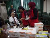 """صور .. وزير الرى يخضع للفحص الطبى ضمن حملة """"100 مليون صحة"""""""