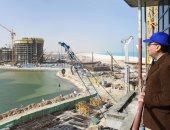 10 صور تبرز زيارة رئيس الوزراء للأعمال الإنشائية بمدينة العلمين الجديدة