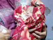 العثور على طفل رضيع خلف مجمع الخدمات فى إهناسيا ببنى سويف