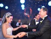 أول صور رسمية من حفل زفاف عمر شريف سالم وعاليا رامز