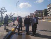 محافظ الإسكندرية يوجه بتكثيف أعمال رفع كفاءة الطرق الرئيسية