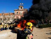 اعتقال 13شخصا وإصابة 77 فى مظاهرات برشلونة الرافضة لاجتماع الحكومة