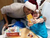 """فيديو جديد لـ""""أوباما"""" بزى بابا نويل مع أطفال مستشفى خيرى ..شوف قالهم إيه؟"""