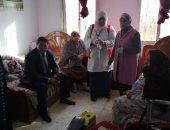 """صور.. """"100 مليون صحة"""" تجرى الفحوص الطبية للمسنات فى كفر الشيخ"""
