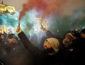 """مظاهرات أمام القصر الجمهورى فى المجر اعتراضا على قانون """"العبودية"""""""