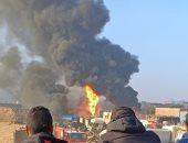 السيطرة على حريق بحظيرة مواشى بطريق مصر إسماعيلية الصحراوى بالشرقية