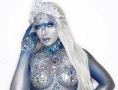 Ice Queen.. فوتوسيشن مثير لعارضة الأزياء أوليفيا باكلاند.. فيديو وصور