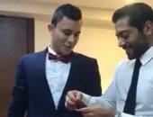 بعد حفل زفافه أمام الرئيس.. أحمد فلوكس يلتقى بطل الجرى من ذوى الإعاقة