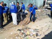 حملة مكبرة لرفع القمامة وتجميل مدينة بلبيس لشباب حزب مستقبل وطن بالشرقية