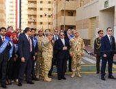 السيسى يفتتح مشروع الإسكان بشاير الخير2 بغيط العنب فى الإسكندرية
