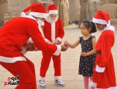 صورة اليوم.. بابا نويل بالفرعونى
