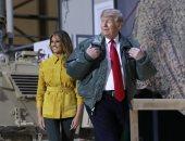 ترامب وميلانيا فى زيارة مفاجئة للعراق لتقديم الشكر للجنود الأمريكان