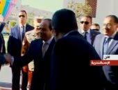 الرئيس السيسى يشاهد فيلما تسجيليا خلال افتتاح مشروع بشاير الخير 2