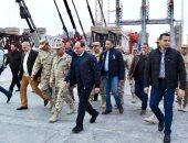 الرئيس السيسي يتفقد محور روض الفرج والمتحف الكبير وهضبة الأهرام