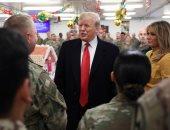 صور.. ترامب وزوجته يزوران قاعدة رامشتاين الجوية الأمريكية فى ألمانيا