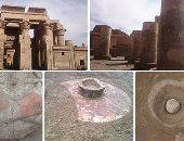 ما الذى سرب المياه الجوفية إلى معبد كوم أمبو وكيف تمت معالجته؟ الآثار تجيب