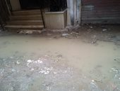 شكوى من غرق شارع مسجد الرحمن بشبرا الخيمة بمياه الصرف الصحى