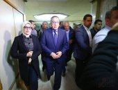 فيديو .. رئيس الوزراء ووزيرة الصحة يزوران مصابى حادث المريوطية الإرهابى