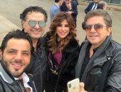 صور.. 5 نجوم لبنانيون على طائرة واحدة فى الطريق إلى السعودية.. تعرف عليهم