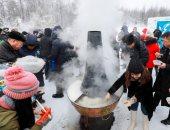 صور.. الآلاف يتظاهرون فى منغوليا متحدين البرد إحتجاجا على الفساد