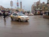 سقوط أمطار غزيرة على دمياط وتوقف حركة الصيد