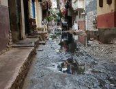 شكوى من غرق شارع السوق فى الإسكندرية بمياه الصرف الصحى