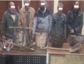 القبض على 5 أشخاص أثناء تنقيبهم عن الآثار داخل عقار بالسيدة زينب